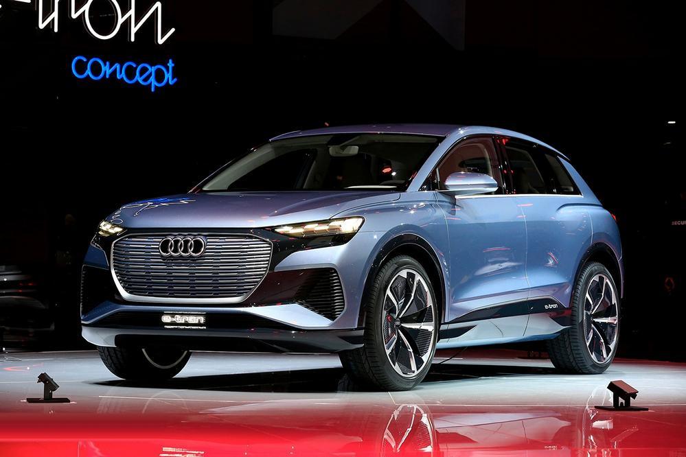 日内瓦车展实拍奥迪 Q4 e-tron concept