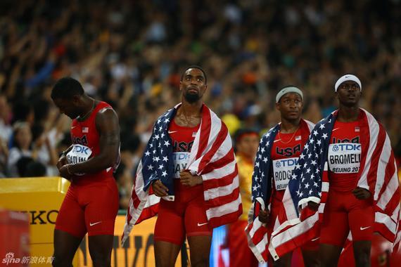 美国4×100米没有成绩