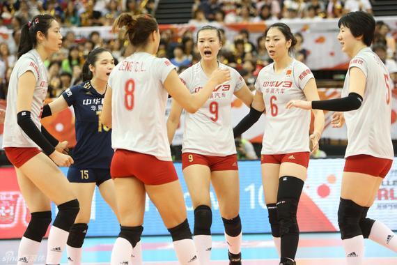 中国女排3-1力克俄罗斯