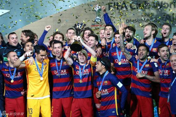 巴萨夺得世俱杯