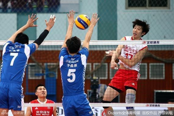 江苏男排0-3北京男排