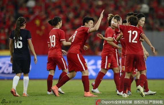 中国女足击败哥斯达黎加