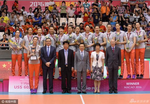 中国女排澳门站夺冠