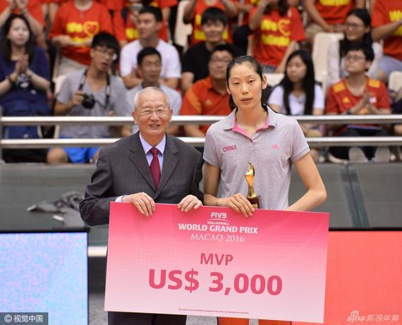 朱婷荣膺MVP