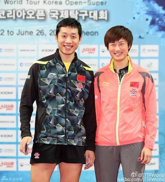 韩乒赛丁宁夺得女单冠军