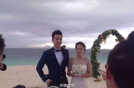 刘翔吴莎斐济拍婚纱照