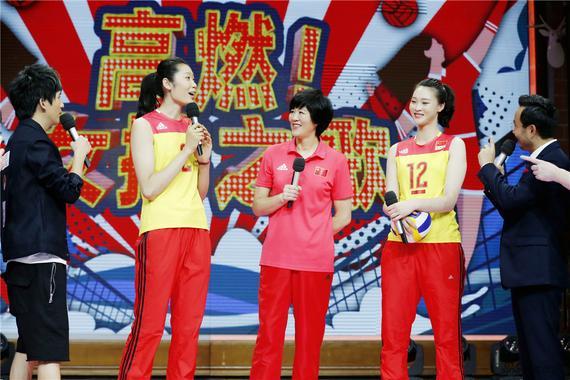 郎平携惠若琪、朱婷参加《天天向上》。