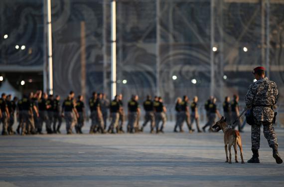 安全部队接管奥运场馆