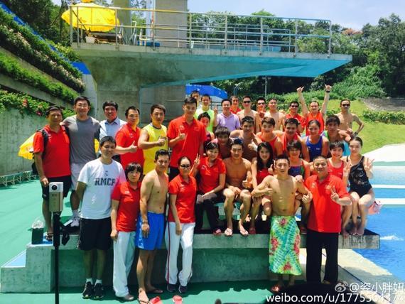 跳水队结束在广州的集训