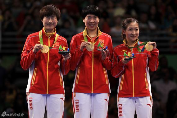 刘诗雯获得女团金牌