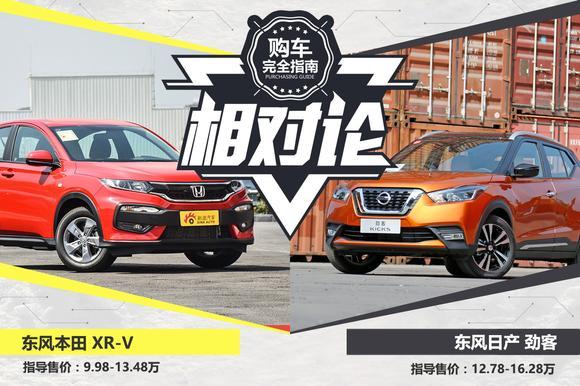 相对论.东风日产劲客对比东风本田XR-V
