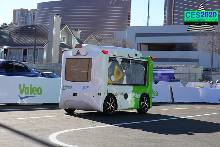 2020CES:法雷奥送餐机器人被美团青睐 自动货车能跟人走