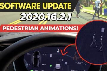 特斯拉更新Autopilot可视化驾驶 提供酷炫行人动画