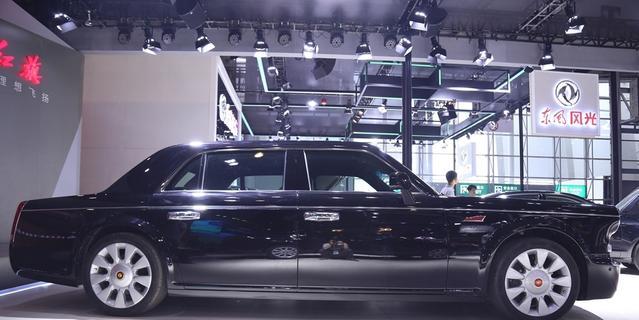 成都车展高清实拍红旗L5 只能在车展遇见你