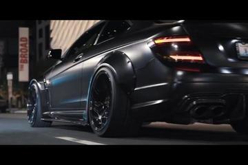视频:Liberty Walk C63 奔驰C63宽体改装欣赏!
