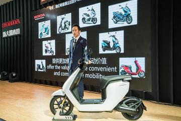 上海国际摩展Honda发布新款电动车