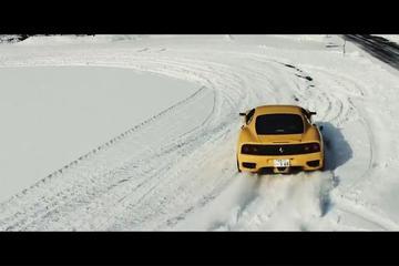 法拉利F360 冰雪横走记!