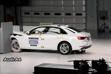 碰撞测试:奥迪A4 VS 宝马3系 BBA入门车型大战