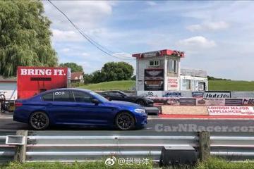 直线加速大战 宝马F90 M5 Competition vs 科尔维特 C7 Z06