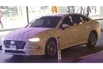 新一代索纳塔谍照曝光 采用四门轿跑设计