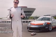 酷!坐在911 RSR赛车里拼乐高911 RSR模型