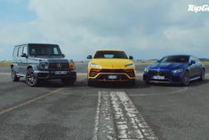 跨界加速赛:兰博基尼Urus vs 奔驰AMG GT 63S vs 奔驰G63 AMG