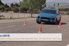 最佳成绩76km/h 保时捷Macan麋鹿测试