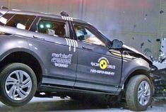 乘员保护到位 2020揽胜揽胜极光碰撞测试