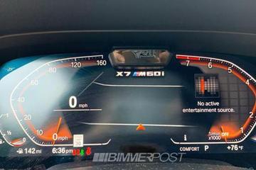搭V12发动机 宝马X7 M60i仪表盘曝光