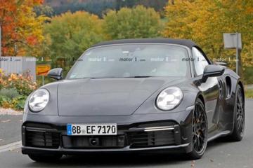 超过650马力 新911 Turbo敞篷版谍照