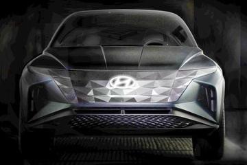 现代全新SUV概念车预告图发布 洛杉矶车展首发