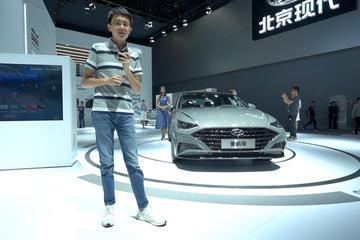 2019广州车展视频:60秒新车初印象 北京现代 全新索纳塔