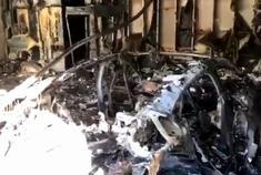 只剩车架 保时捷Taycan首起自燃事故