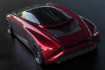 马自达超级跑车渲染图曝光 采用混合动力系统