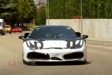明年第一季度发布 法拉利全新混动超跑路试谍照