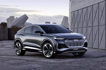 超500km续航/2021年量产 奥迪Q4 e-tron Sportback概念车全球首秀