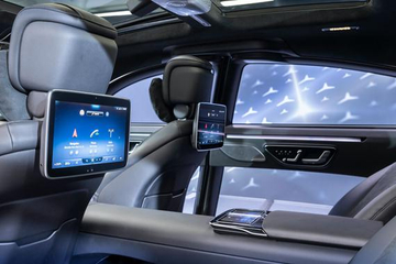 全新一代奔驰S级内饰细节发布 第二代MBUX配5块大屏
