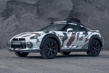600匹碎石机 日产GT-R被改成拉力赛车