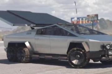 特斯拉Cybertruck太阳能回收车顶曝光 增加24公里续航