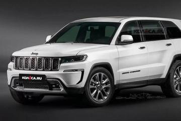 将有插混和纯电动版 全新第5代Jeep大切诺基效果图曝光