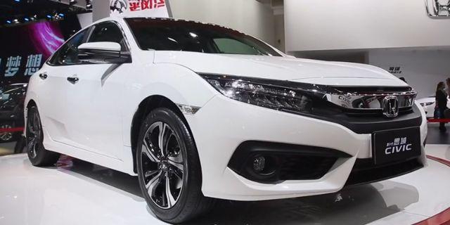 国产全新思域基本延续了海外车型的造型设计,性能更强。