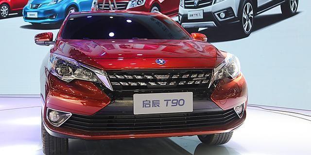 视频:成都车展之东风启辰T90 现场实拍