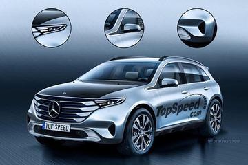 奔驰首款纯电动车渲染图