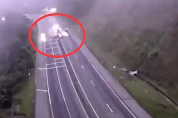 视频:汽车爆炸飞出50米!今年最恐怖车祸