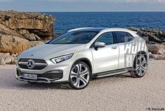 奔驰全新A级车的谍照陆续曝光,基于同平台的全新一代GLA也流出更多消息。