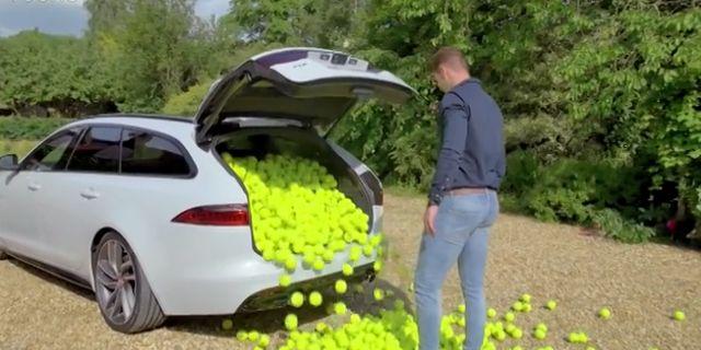 视频:捷豹XF旅行版后备箱容积展示