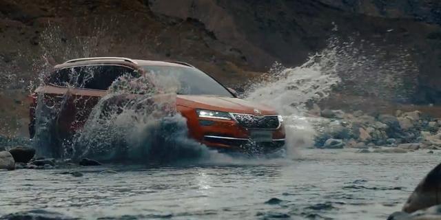视频:斯柯达展出了一辆小型SUV,柯珞克