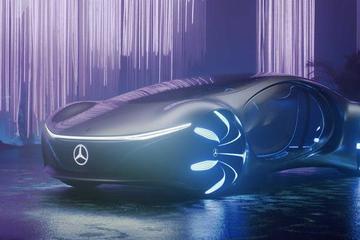 酷炫未来派 奔驰Vision AVTR电动原型车路测视频曝光