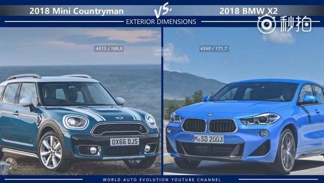 视频:全新Mini Countryman VS 全新宝马X2,选哪个呢?