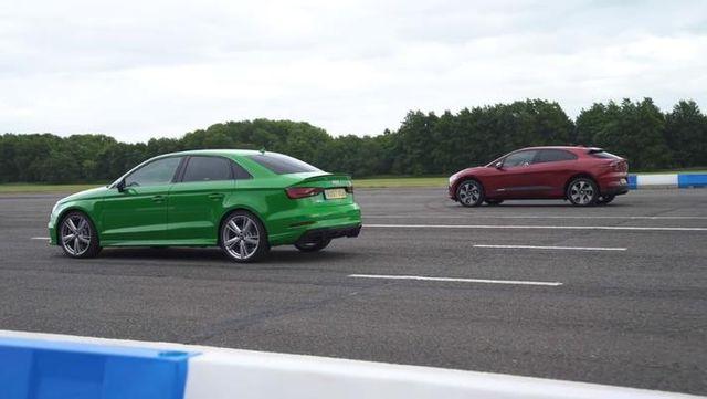 油电直线加速对比:奥迪RS3 vs. 捷豹I-Pace
